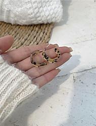 cheap -s925 silver needle leopard print earrings earrings korean temperament net red earring circle earrings 2021 new
