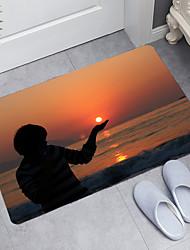 cheap -Sunrise Beach Series Digital Printing Floor Mat Modern Bath Mats Nonwoven / Memory Foam Novelty Bathroom