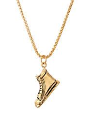 cheap -lureme Hip Hop Pendant Necklace 14K Gold 24 Length Dice Canvas shoes Whistle US Dollar Necklace