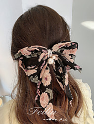 cheap -Bow Hairpin Lovely Women's Flower Duck Beak Clip Independent Packaging Spring Clip Hair Accessories