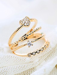 cheap -korean version of popular joint ring fashion sweet and exquisite love micro-inlaid zircon 4-layer open ring ring female