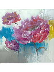 cheap -Oil Painting Handmade Hand Painted Wall Art Square Flower Abstract Home Decoration Decor Stretched Frame Ready to Hang