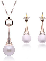 cheap -Women's Jewelry Set Stylish Fashion Earrings Jewelry Silver / Gold For Gift Formal
