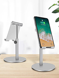 cheap -Phone Holder Stand Mount Desk Phone Holder Adjustable Silicone Aluminum Alloy Phone Accessory iPhone 12 11 Pro Xs Xs Max Xr X 8 Samsung Glaxy S21 S20 Note20