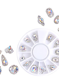 cheap -12 Types/box Nail Jewelry Alloy Special-shaped Color White Zircon Nail Drill Set Decorations