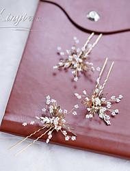 cheap -xinyi, millet beads, metal flower hairpin, wedding headdress, wedding dress accessories and makeup photography accessories