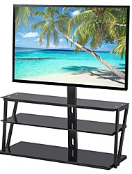 cheap -Adjustable Universal Tempered Glass Metal Frame Three-layer Glass TV Stand Living Room Furniture