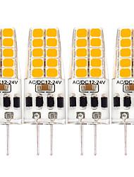 cheap -G4 LED Bulb 3W Equivalent to 20W-25W T3 JC Type Bi-Pin G4 Base Halogen Bulb AC/DC 12V Warm White 3000K G4 Light Bulb for Puck Light RV Under Counter Kitchen Lighting Under Cabinet Light 4 Pack
