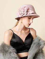 cheap -Retro Wool Felt Hats with Flower 1pc Casual / Holiday Headpiece