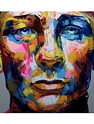 cheap -Oil Painting Handmade Hand Painted Wall Art Francoise Nielly Palette Knife Portrait Face Abstract Home Decoration Decor Rolled Canvas No Frame Unstretched