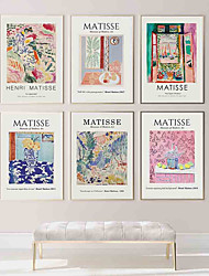 cheap -Wall Art Canvas Prints Painting Artwork Picture Abstract Color Still Life Matisse Style Home Decoration Décor Rolled Canvas No Frame Unframed Unstretched