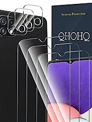 cheap -3 pack screen protector for samsung galaxy a22 5g (not fit galaxy a22 4g) with 3 packs camera lens protector,tempered glass film,9h hardness - hd - anti-scratch - 2.5d edge - easy installation