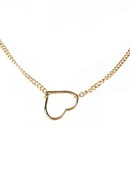 cheap -retro alloy heart-shaped pendant single-layer necklace women's european and american simple and sweet style necklace jewelry