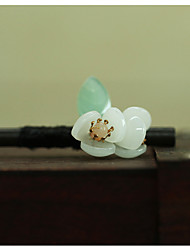 cheap -ancient style hairpin small fresh retro wooden hairpin 18cm lotus hairpin ancient costume hanfu small flower headdress female factory direct sales