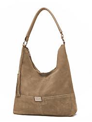 cheap -Women's Bags PU Leather Top Handle Bag Hobo Bag Zipper Daily Handbags Baguette Bag Black Purple Yellow Green