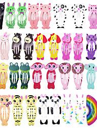 cheap -40Pcs/Lot Korean Style Women Hair Accessories Cartoon Hair Clip Flower Hairclip Cute Headdress Print Alloy Hairpins for Girls