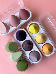cheap -4 Packs/set Makeup Egg with Box Beauty 3 Pcs/pack of Eggs Water Droplets Diagonal Cut Makeup Eggs Wet And Dry Soaking Large