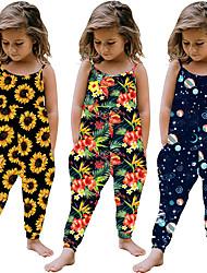cheap -Toddler Kid's Little Girl Jumpsuit 1pc Sleeveless Flamingo Sun flower Print Fashion Holiday 1-4 Years