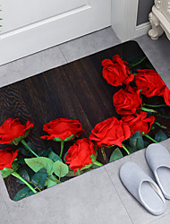 cheap -Rose Dandelion Series Digital Printing Floor Mat Modern Bath Mats Nonwoven / Memory Foam Novelty Bathroom