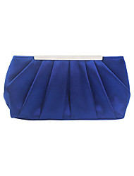 cheap -Women's Bags Polyester Evening Bag Chain Plain Solid Color Party Wedding Evening Bag Chain Bag Blue Almond Blushing Pink Silver