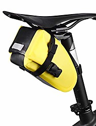 cheap -bicycle saddle bag, waterproof seat bag, cycling bike seat bag for mountain road bike, 16.58.510.5cm,yellow