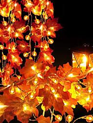 cheap -Maple Leaves Garland Led Fairy String Lights 3M 20 Fairy String Lights for Thanksgiving Christmas Decoration Autumn String Light Halloween Pumpkin Decor Lighting AA Battery Power Lamp