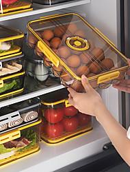 cheap -Food Storage Fresh Keeping Box Egg Dumpling Storage Household Daily Necessities Storage Dustproof Refrigerator Storage Box