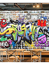 cheap -Mural Wallpaper Wall Sticker Self-adhesive Hip-hop Graffiti Picture Canvas /vinyl Suitable For Living Room Party Holiday Children's Room Wall Decoration Art Home Decor