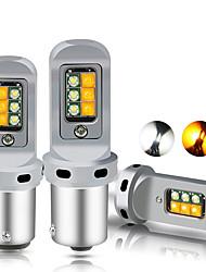 cheap -OTOLAMPARA Super Bright Lightness CAN-bus Error Free 1156 LED BA15S P21W BAU15S PY21W LED Bulb Dual Colors 1157 Bay15d Turn Signal Light T20 7443 W21/5W 3157 DRL Bulbs 2pcs