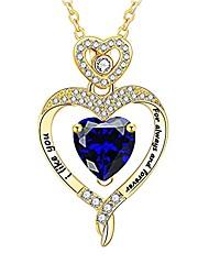 cheap -simulated diamond necklace, cz diamond embed pendants rhinestone necklace, heart shaped diamond necklace pendant personal simplistic accessories (a)