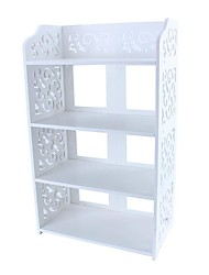 cheap -4 Tiers White Hollow Out Shoe Rack Stand Storage Organiser Shelf Furniture