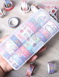 cheap -20 Rolls Washi Tape Set Halloween decoration cute cartoon Washi Tape Colorful Journal DIY Decorative Painters Tape for Craft Kids Scrapbook Bullet