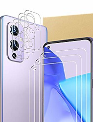 cheap -(3+3 pcs) compatible with oneplus 9 screen protector and camera lens protector,no fingerprint sticking,2.5d curved edge h d tempered glass film,anti-scratch shatterproof bubble-free,9h hardness.