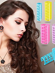 cheap -20 Pieces/set Plastic Hair Rollers Curlers Snap on Rollers Self Grip Rollers Hairdressing Curlers No Heat Hair Curlers for DIY Hairdressing Hair Salon Hair Barber 5 Sizes