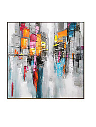 cheap -Oil Painting Handmade Hand Painted Wall Art Square Landscape Abstract Wall Art Canvas Home Decoration Decor Stretched Frame Ready to Hang