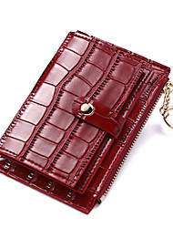 cheap -Women's Bags PU Leather Polyester Coin Purse Zipper Crocodile Skin Pattern Daily Outdoor 2021 Wine Blue Almond Blushing Pink