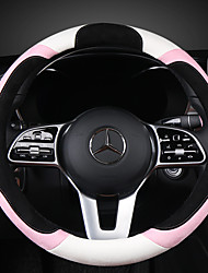 cheap -Steering Wheel Covers Leather Black For universal All years