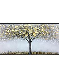cheap -Oil Painting Handmade Hand Painted Wall Art  Modern New Rich Tree Abstract Gold Foil Picture Home Decoration Decor Rolled Canvas No Frame Unstretched