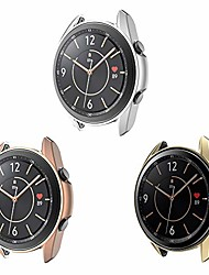 cheap -3-pack  case compatible with samsung galaxy watch 3 41/45mm matte case full edge protective cover bumper shell for galaxy watch 3 (silver+rose gold+gold, galaxy watch 3 45mm)