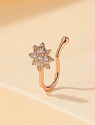 cheap -Nose Ring / Nose Stud / Nose Piercing Sexy European Trendy Women's Body Jewelry For Street Gift Classic Rhinestone Alloy Wedding Gold