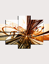cheap -5 Panels Wall Art Canvas Prints Painting Artwork Picture Abstract Painting Home Decoration Decor Rolled Canvas No Frame Unframed Unstretched