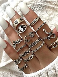 cheap -Ring Vintage Style Silver Alloy Snake Sun Moon Stylish Rustic / Lodge Vintage 16pcs One Size / Women's / Star