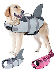 cheap -Ripstop Dog Life Jacket Pet Life Water Vest with Rescue Handle Life Safety Saver Preserver for Small Medium Large Dogs