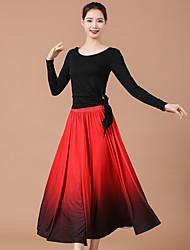 cheap -Ballroom Dance Skirts Splicing Women's Training Performance Modal
