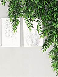 cheap -120cm Simulation Cinnamon Leaf Tree Wall Hanging Green Plants Decorative Vines Plastic Vines Block Green Leaves Idyllic False Leaves