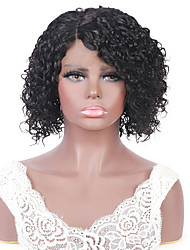 cheap -Europe and the United States selling short head set Brazil real wig T lace curving hair head set 150 density