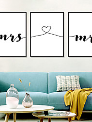 cheap -Wall Art Canvas Prints Painting Artwork Picture Abstract Word Romantic Home Decoration Décor Rolled Canvas No Frame Unframed Unstretched