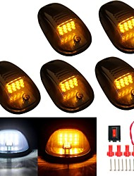 cheap -5pcs/set  Marker Running Car white or yellow  LED Cab Roof  Top Marker Running  Lights For Truck SUV 4x4 Black Smoked Lens Lamps 12V