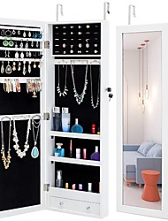cheap -Fashion Simple Jewelry Storage Mirror Cabinet Can Be Hung On The Door Or Wall Furniture
