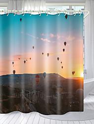 cheap -Hot Air Balloon Series Digital Printing Shower Curtain Shower Curtains  Hooks Modern Polyester New Design